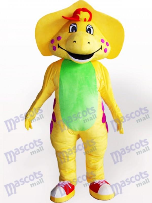 Costume de mascotte adulte jaune dinosaure