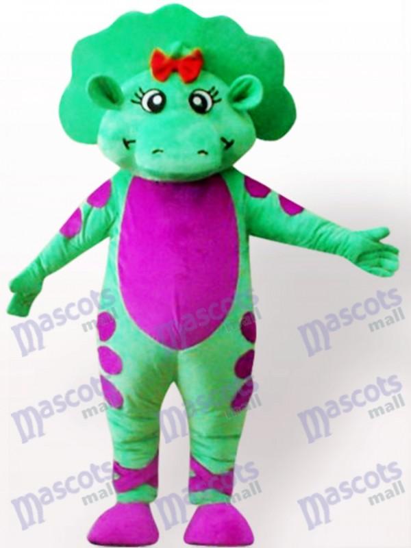 Costume de mascotte adulte vert dinosaure