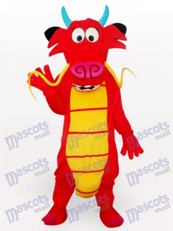 Costume de mascotte d'animal de dinosaure d'omelette adulte