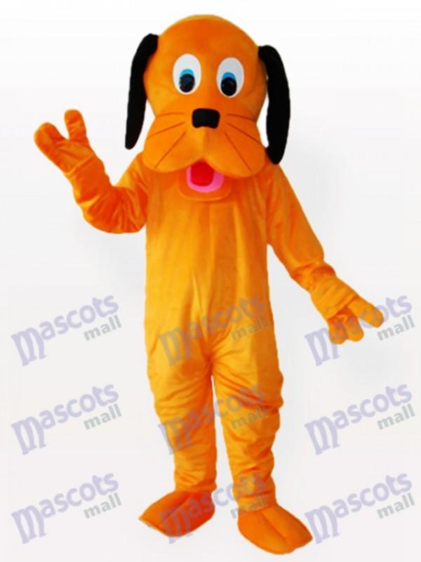 Oreilles noires Costume drôle de mascotte adulte de chien orange