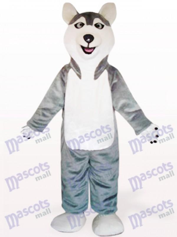 Déguisement de mascotte chien chien loup gris