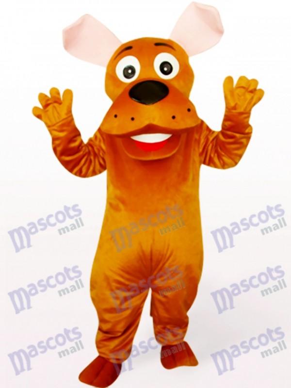 Costume de mascotte animale de chien rond de nez