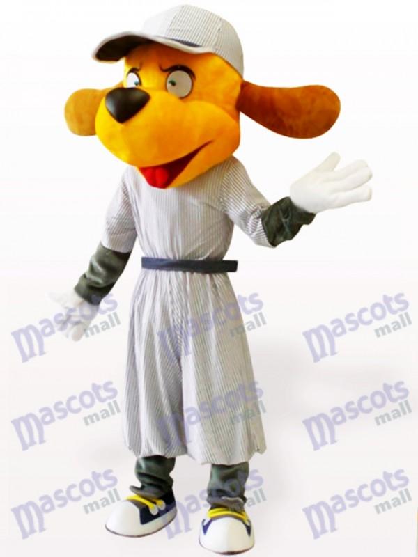 Costume de mascotte adulte de chien de baseball