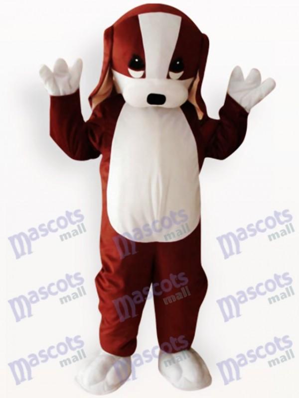Costume de mascotte adulte animal marron et blanc chien