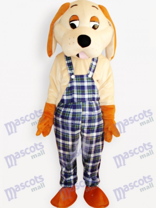 Costume de mascotte adulte animal chien heureux