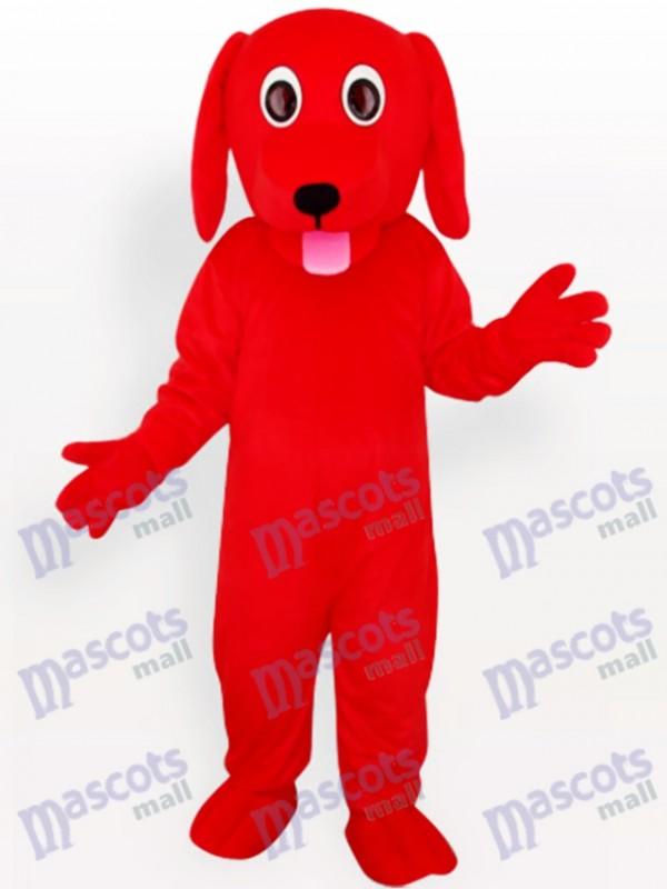 Costume de mascotte adulte animal rouge chien
