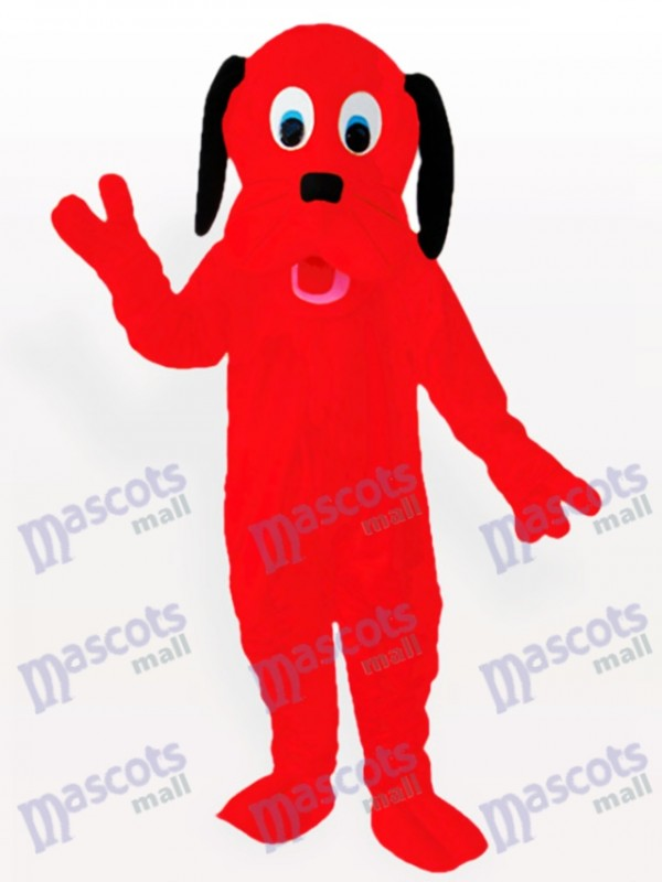 Costume de mascotte adulte rouge feu de chien