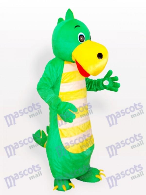 Costume de mascotte adulte dragon vert