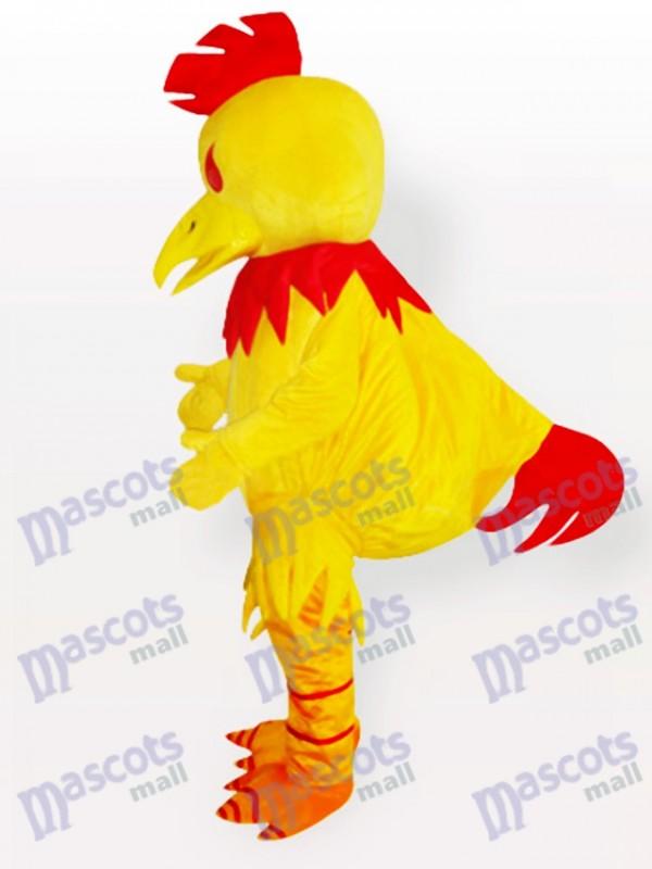 Grand Costume de mascotte de poulet Chanticleer jaune