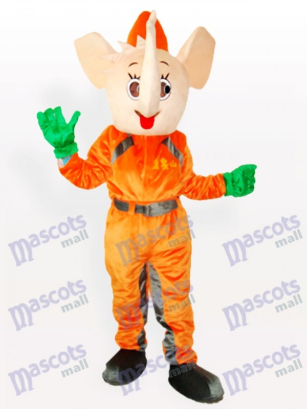 Costume de mascotte adulte éléphant jaune