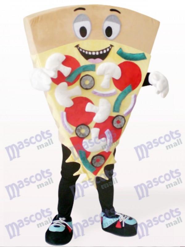 Costume de mascotte de pizza au fromage brun