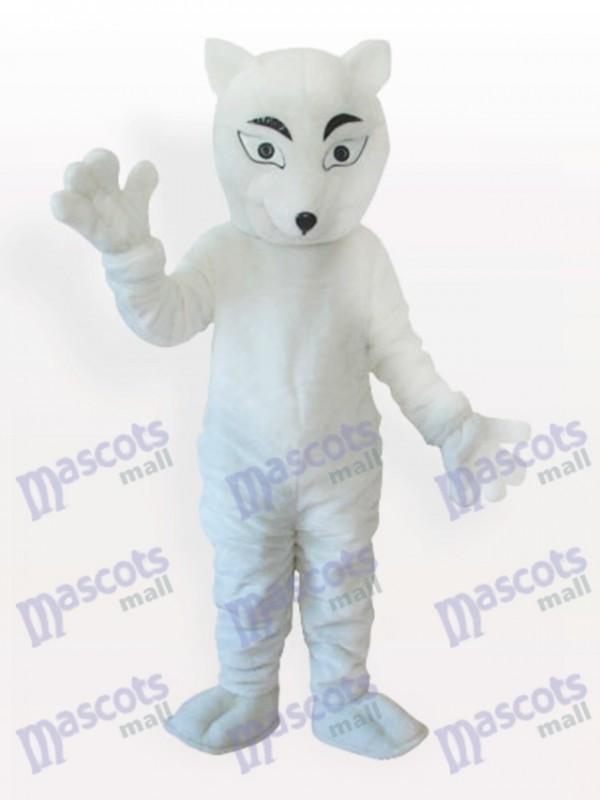Costume de mascotte adulte Fox blanc polaire