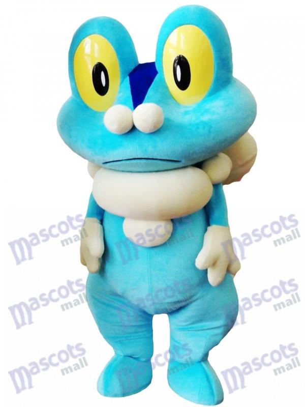 Costume de mascotte Froakie de grenouille bleue Pokémon de Pokémon GO Pocket Monster