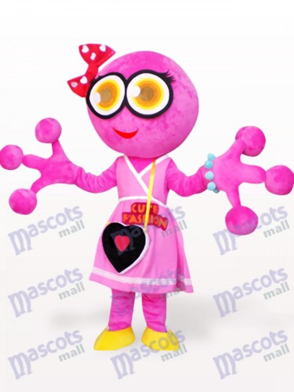 Costume de mascotte adulte rose grenouille grosse tête