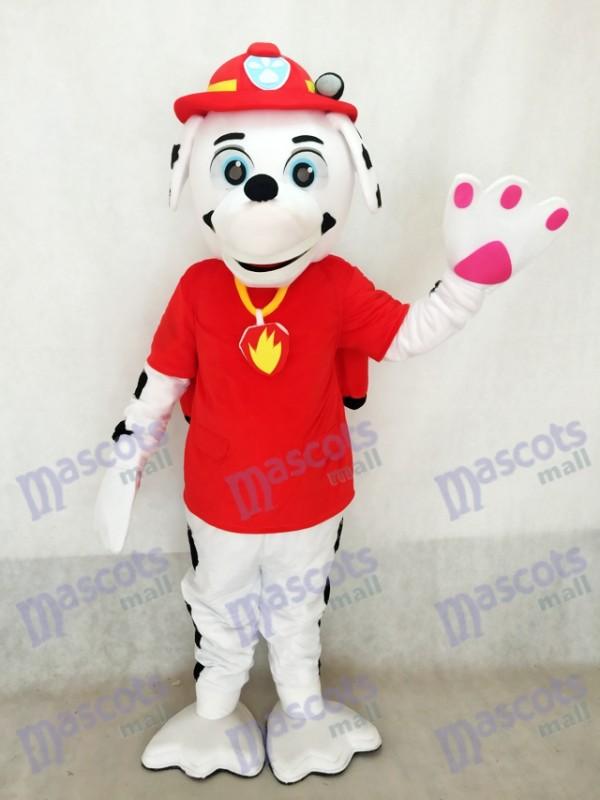 Haute Qualité Adulte Réaliste Nouvelle La Pat' Patrouill Marcus Dalmatien Puppy Chien De Mascotte Costume Mascottes Sauver Jake