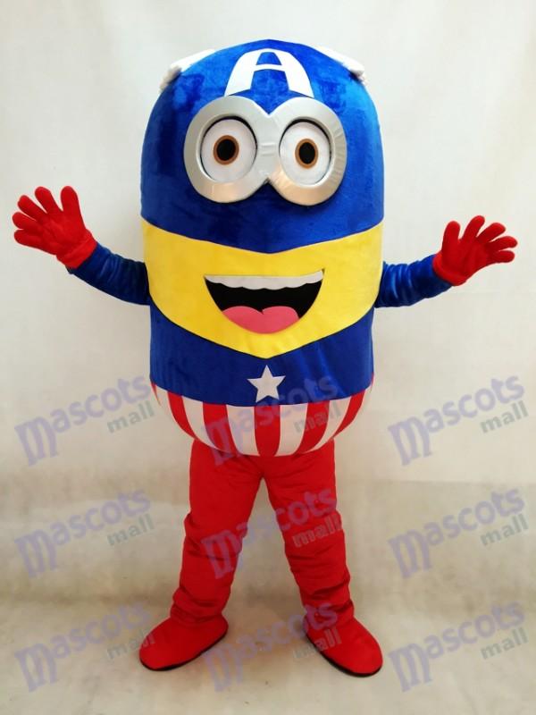 Moi, moche et méchant Despicable Me Minions Captain America mascotte Costume déguisement tenue