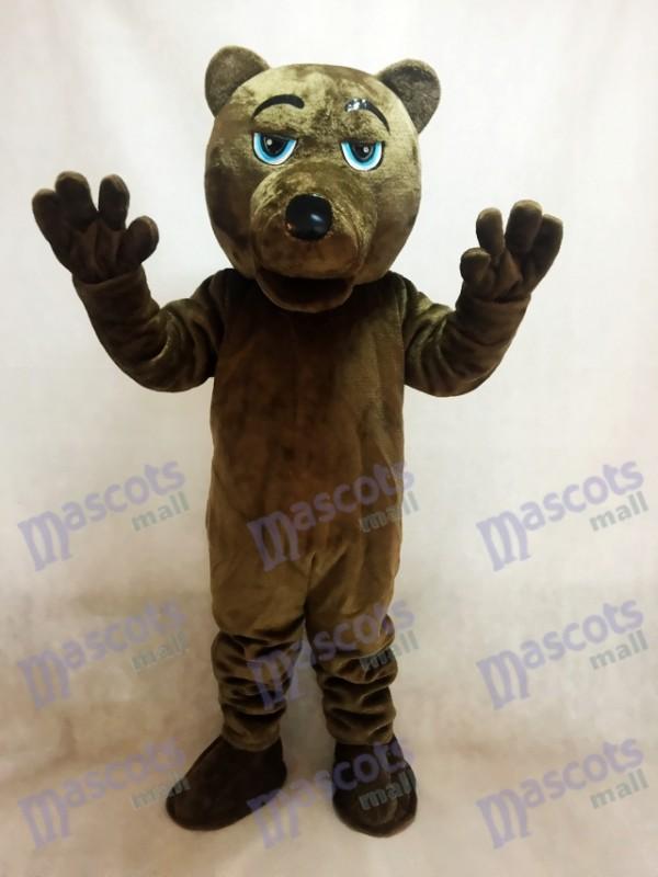 Costume de mascotte ours brun foncé UCLA
