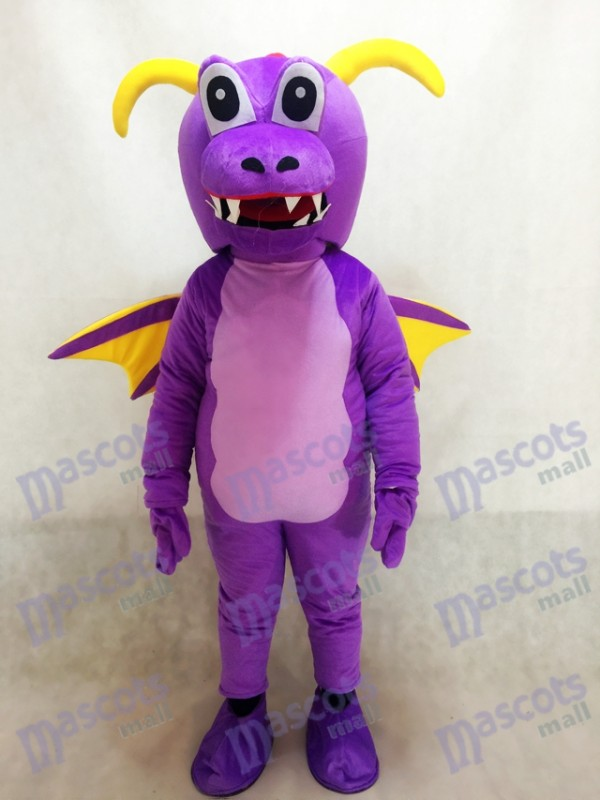 Costume mignonne de mascotte de dragon d'épine pourpre