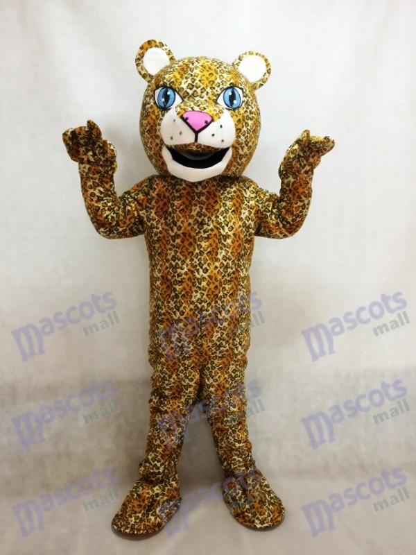 Costume de mascotte animal réaliste de Jaguar