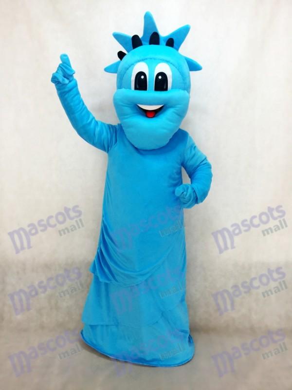 Costume de mascotte de la Statue bleue de la Liberté