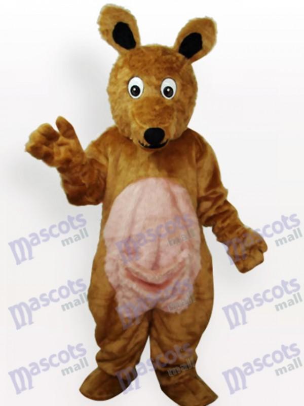 Costume de mascotte en peluche kangourou pour adulte