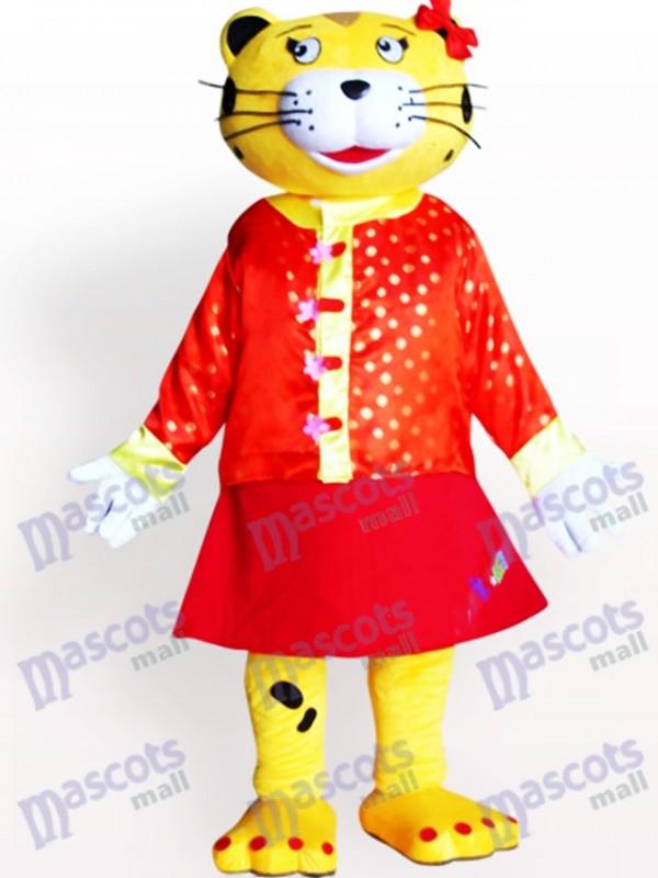Costume de mascotte adulte léopard femelle