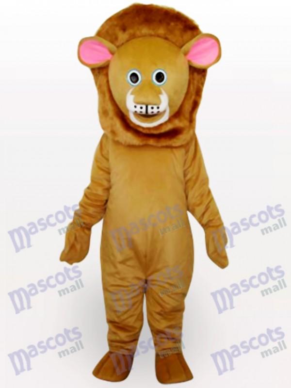 Déguisement de mascotte adulte lion brun animal