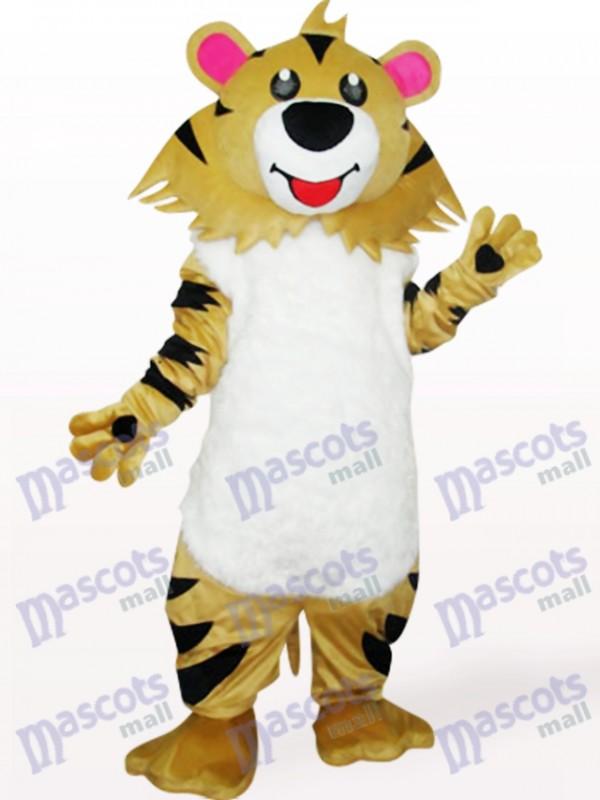 Déguisement de mascotte de lion gris brun
