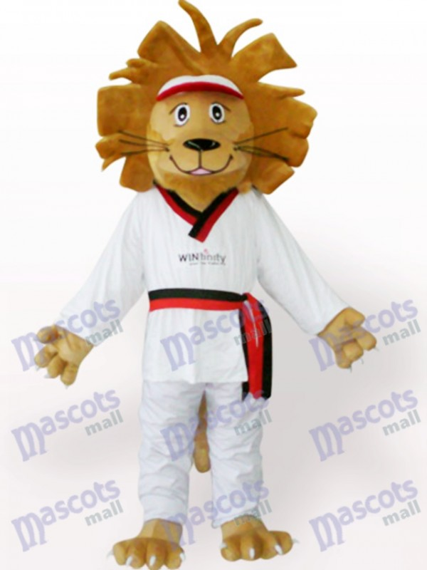 Costume de mascotte animal Lion heureux