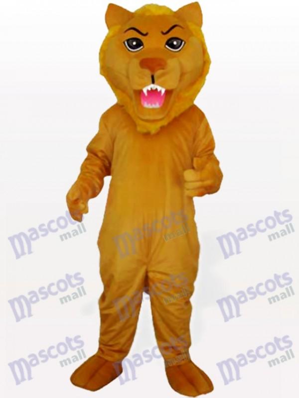 Déguisement de mascotte animal jaune poussoir lion