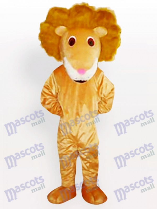 Costume de mascotte de lion de courbure de cheveux