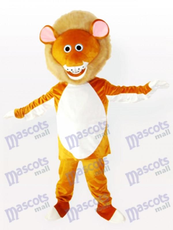Costume de mascotte adulte lion mâle jaune