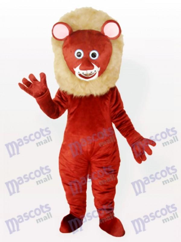 Costume de mascotte animal adulte lion mâle brun