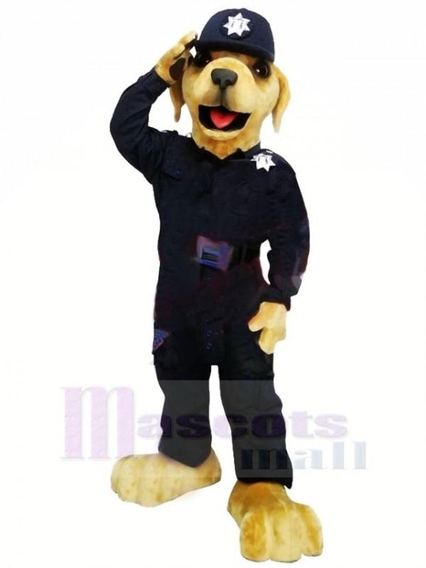 Meilleur Qualité Police Chien Mascotte Costume Dessin animé