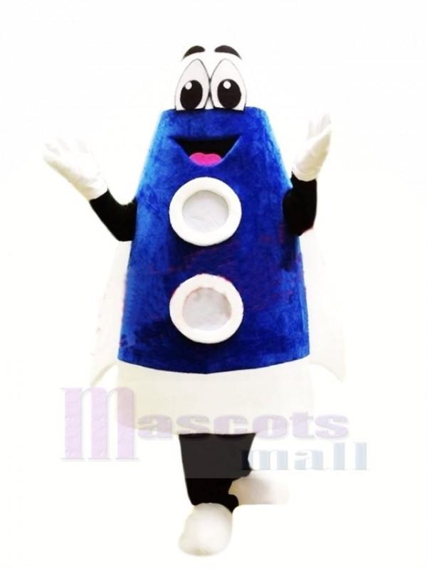 Mignonne Bleu Fusée Mascotte Costume Dessin animé