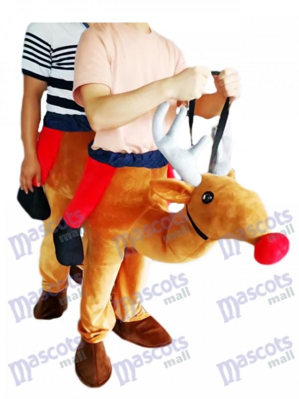 Carry Me Ride Rouge Nez Rudolph Piggyback Renne Mascotte Costume