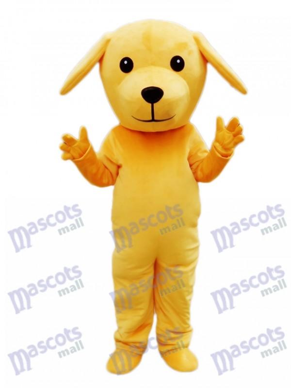 Costume de mascotte chien jaune Animal