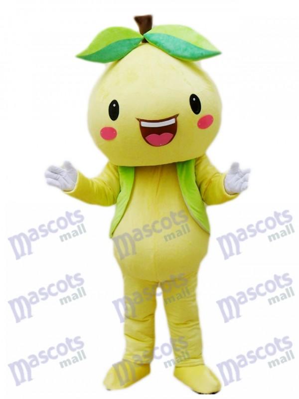 Costume de mascotte pamplemousse pomélo jaune pamplemousse