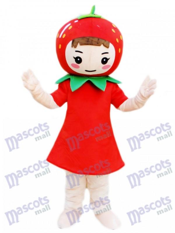 Costume de mascotte fraise fille Fruit