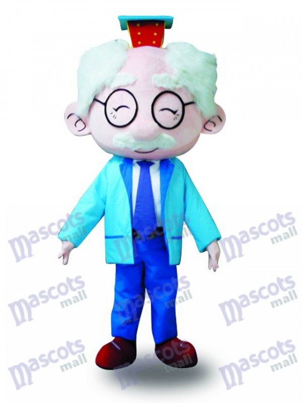 Costume bleu Costume de mascotte Old Man Costume