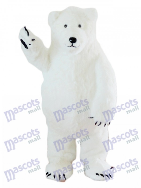 Costume de mascotte ours blanc polaire Animal