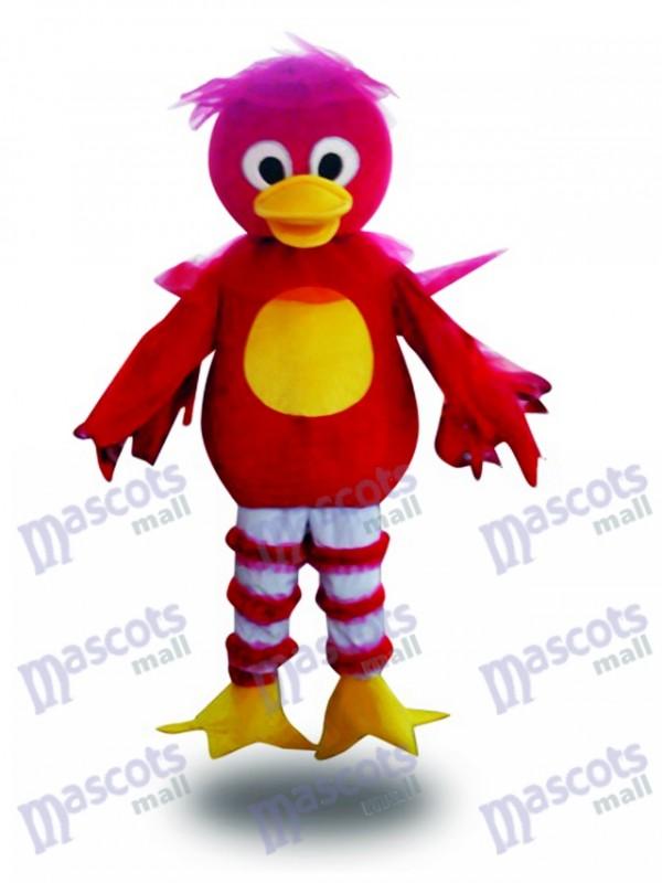 Mascotte rouge de canard de bande dessinée Costume adulte Animal