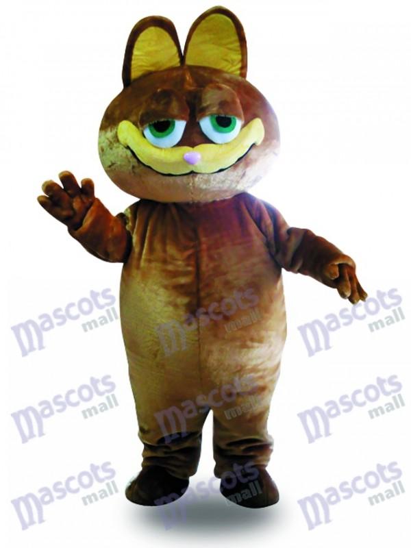 Costume de chat mascotte chat marron adulte