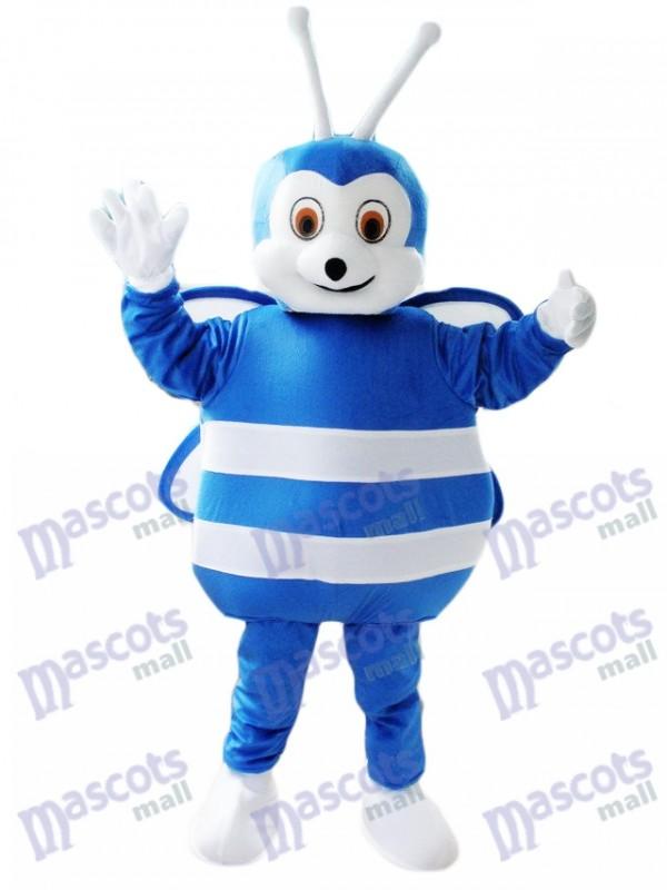 Insecte Costume mascotte abeille bleue et blanche
