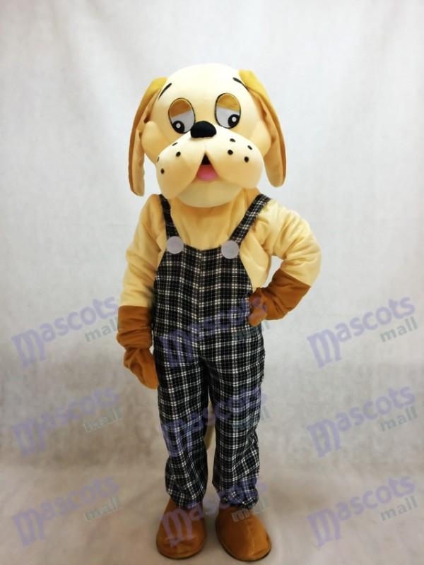 Costume de mascotte animal chien heureux