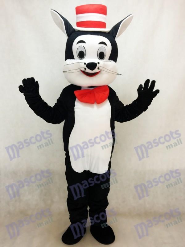 Chat dans le chapeau Costume de mascotte Cartoon Animal