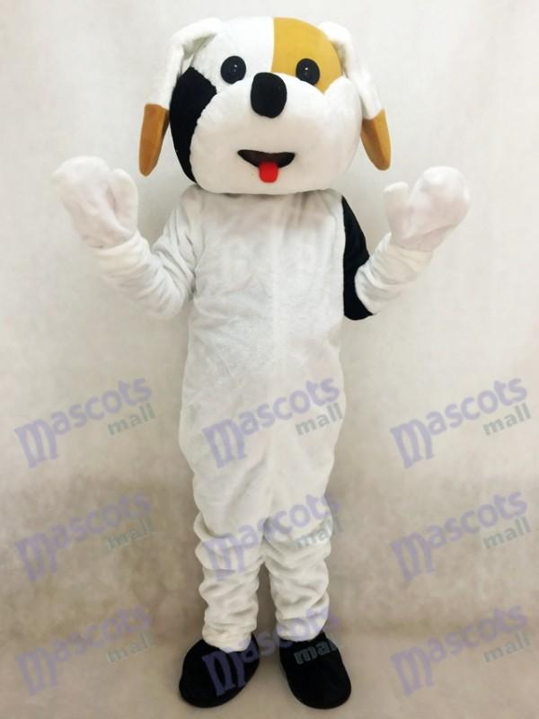 Costume adulte mascotte chien noir et brun