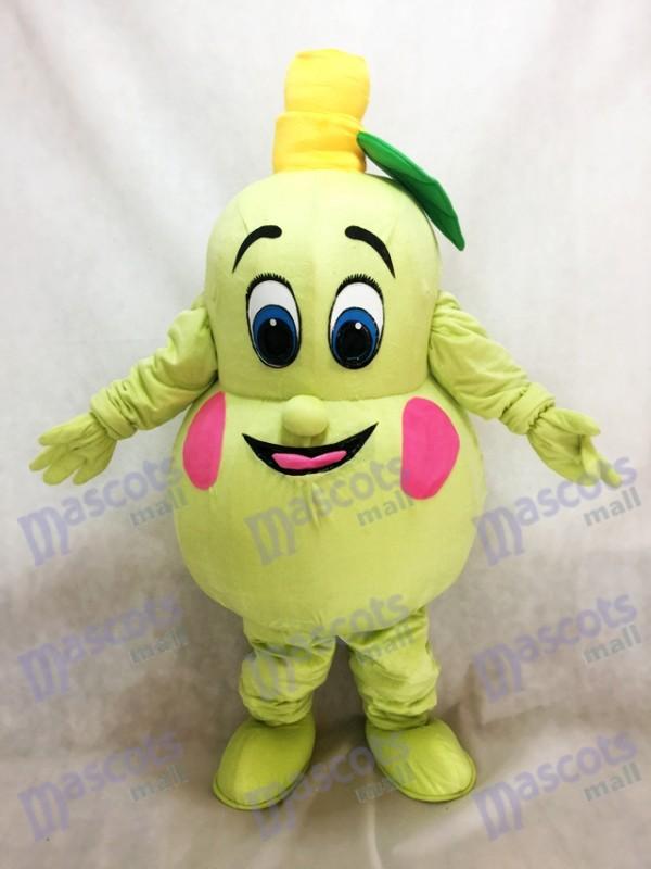 Costume de mascotte de poire fraîche