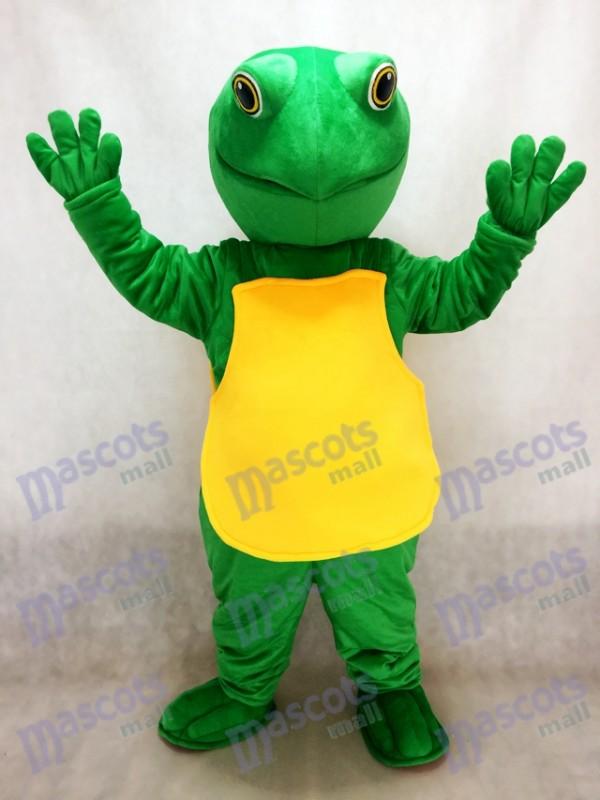 Costume de mascotte de tortue verte