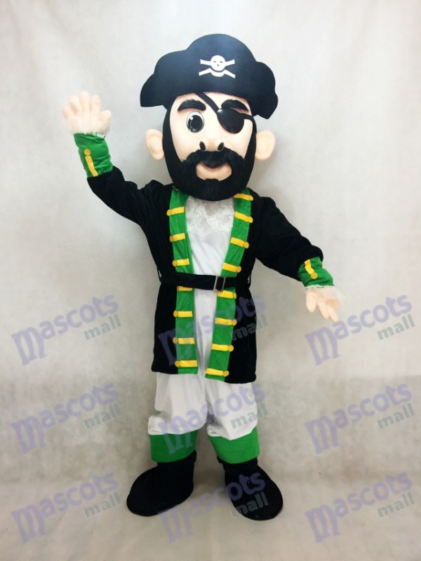 Costume de capitaine de manchette verte Blythe Pirate